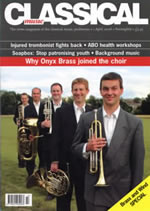 Front cover of Classical Music Magazine